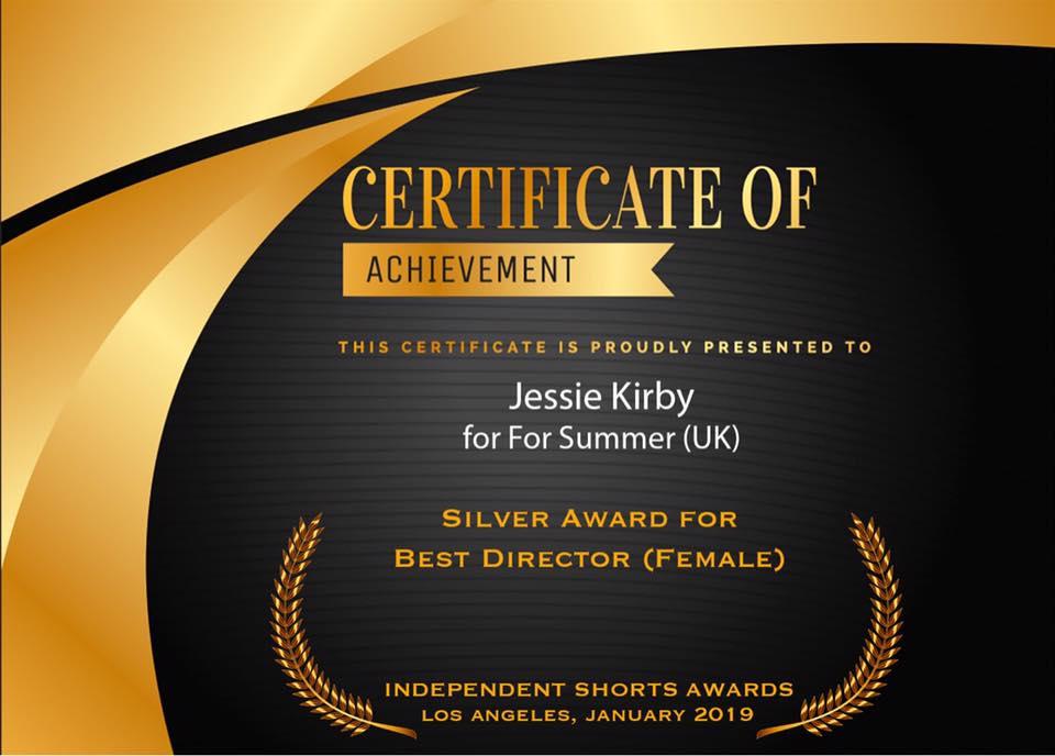 fs | silver award | best female director